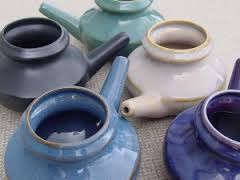 It's important to have a pretty neti pot to force the noxious liquid into your sinus cavity.