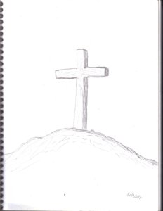 sketchbook_drawing__a_cross_on_a_hill_by_spudcreations-d5b8wjb